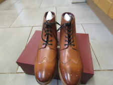 Mens leather Brogue boot , lace up front Boots size 12