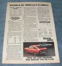 """1976 Datsun B-210 Vintage Ad """"Tough as it is Thrifty"""" B210"""