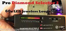 Diamond Tester Gemstone Jewelry Test Audio Jewelers Microscope Magnifier 60x