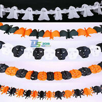 3M Paper Halloween Hanging Pumpkin Garland Props Spider Ghost Party Decorations