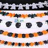 3M Hanging Paper Ghost Pumpkin Garland Banner Props Halloween Party Decoration