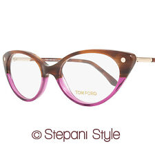 Tom Ford Cateye Eyeglasses TF5189 050 Size: 54mm Striped Brown/Violet FT5189