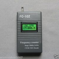 FC-102 Frequency Meter CTCSS/DCS Scanner for Ham Radio Motorola 50MHz--2.4GHz
