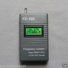 FC-102 Frequency Meter CTCSS/DCS Scanner for Ham Radio Motorola 50MHz--2.4GHz