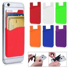 Wallet Credit Card Cash Holder Pouch Stick-On Mobile Phone Pocket