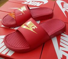 8e5d51c914c NIKE BENASSI JDI SLIDE MEN'S UNIVERSITY RED / METALLIC GOLD 343880 602