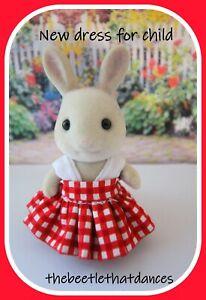 Sylvanian Clothes, New Day Dress B For CHILD  Rabbit, Cat, Fox, Dog ETC
