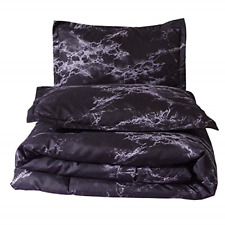 A Nice Night Closure-Printed Marble Ultra Soft Comforter Set Bed-in-a-Bag,Queen