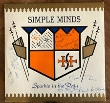 SIMPLE MINDS Sparkle In The Rain AUTOGRAPHED Vinyl LP with inner sleeve + Insert