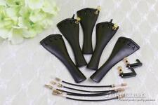 1x 4/4 Violin Tailpiece ebony Hill Shape Fine Tuner tail gut Yinfente Brand