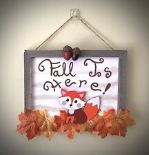 Fall Is Here Autumn Hanging Sign Rustic Farmhouse Home Decor
