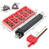 10X SER1212H16 Threading Lathe Turning Tool Holder Boring Bar 16ER AG60 Insert