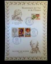 FRANCE ENCART FDC YVERT 2262A+ANDORRE 310   MONGOLFIERE   2+2+3F  TIRAGE 1800 EX