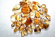 *ONE* Citrine Cacoxinite 10-15mm Tumbled Stone Healing Crystal Ascension Crown