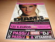 DIAM'S - BRUT DE FEMME!!!!!RELANCE!!!!!!!!!! PLAN MEDIA