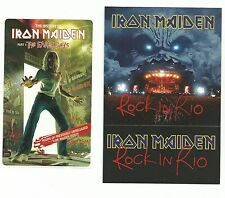 IRON MAIDEN PROMO CARD &STICKER ROCK IN RIO/ EARLY YEARS
