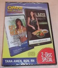 Get Healthy & Live Longer: Tana Amen 2 Audiobooks (2 CDs, 2013) New Unopened!