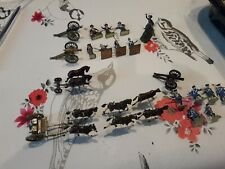 Vintage JOBLOT AIRFIX PAINTED NAPOLEONIC BRITISH FRENCH ARTILLERY 1/76th