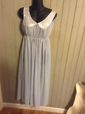 beautiful! Very Vintage light blue, size med (36) nightgown with satin & lace