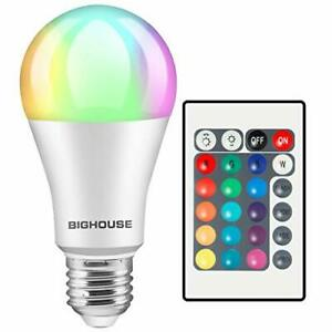 RGB LED Light Bulb 16 Colour Changing Remote Controlled Bayonet Screw Lamp Light
