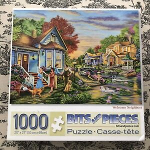 Bits & Pieces 1000 Pc Puzzle Welcome Neighbors by Cory Carlson; in Box