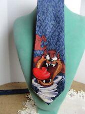 VTG Warner Bros Looney Toons Tunes Tie 06 Taz Tazmanian Devil HandMade 100% Silk