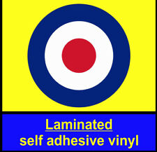 Laminated 1x 200mm RAF Roundel stickers The Who Mod Target Scooter Decals vespa