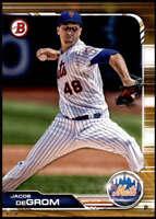 Jacob deGrom 2019 Bowman 5x7 Gold #100 /10 Mets