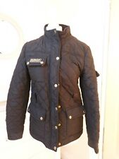Barbour Black Jacket Coat Size 12,zip, Polyester, Quilted