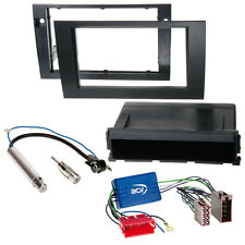 Audi A4 B7+Mini ISO 04-07 DIN Car Radio Installation Frame black +Cable+