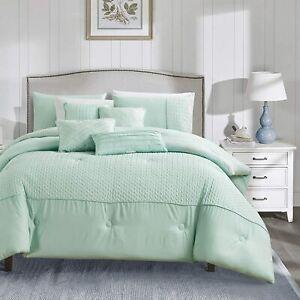 Living Quarters 7 PC Jackopa Oversized Luxury Bed in Bag Microfiber(Mint, Queen)