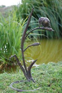 kingfisher garden ornament. cast iron Verdigris finish