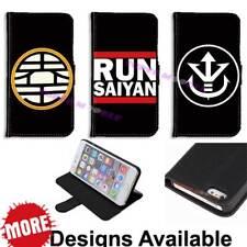Dragon Ball Z Saiyan Symbol Wallet Stand Case for iPhone Galaxy Phone