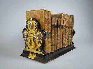 Victorian Betjemann's Patent Coromandel & Porcelain Book Slide, c.1860.