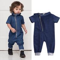 Newborn Infant Baby Girls Boy Jumpsuit Romper Bodysuit Outfits Clothes 0-3Y AU