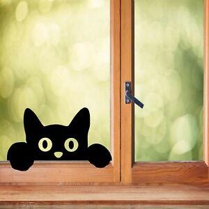 Peek A Boo Cat Vinyl decal sticker- window , mirrors , kids room animal sticker