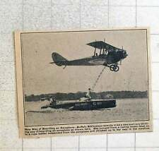 1923 Buffalo Bills Niece Stunt Racing Boat Ladder To Aeroplane Miss Tampa