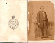 Helsby, Liverpool, Homme en pose Vintage CDV albumen carte de visite  CDV, tir
