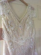 Free gift with BHLDN Anthropologie Aurora Wedding Gown Size 8