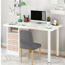 Computer Desk Pc Laptop Table Bookshelf Study Workstation Home Office Drawers