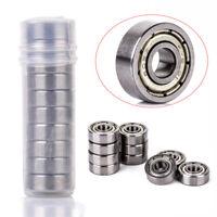10Pcs 605-ZZ Steel Miniature Bearings Ball Mini Bearing Kits 5mmx14mmx5mm Set