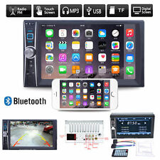 Car Head Unit Stereo MP3 Player Double 2 DIN Bluetooth Touch FM Radio USB TF AUX