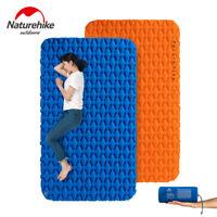 Outdoor Ultra-light Double Sleeping Mat with Inflatable Bag Hiking Air Mattress
