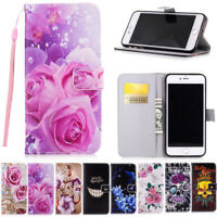 Magnetic Flip PU Leather Case Cover Skin Wallet Cards For Samsung iPhone Huawei