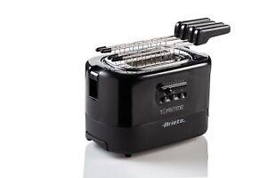 Ariete Tostapane Toastime nero toast pinze inox pareti fredde