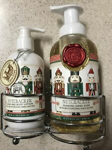 New Michel Design Works Liquid Hand Soap & Lotion Caddy Nutcracker