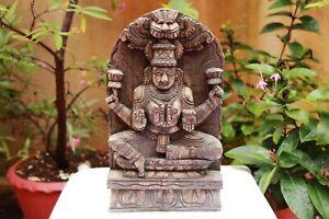 Antique Lakshmi Statue Wall Panel Hindu Goddess Parvati Sculpture Rare Figurine