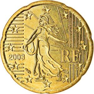 [#766491] France, 20 Euro Cent, 2003, SUP, Laiton, KM:1286