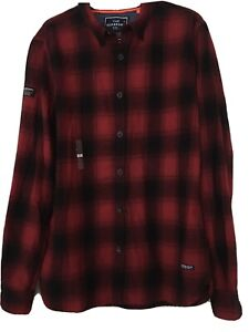 Superdry.Co Shirt Warm Cotton Red & Black Check Size XL
