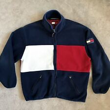 🔴 Tommy Hilfiger Fleece Size Medium Rare VTG Colorblock Wu-Tang